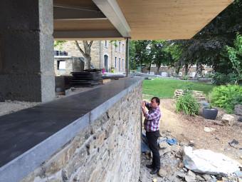 Extension toiture plate panneaux CLT